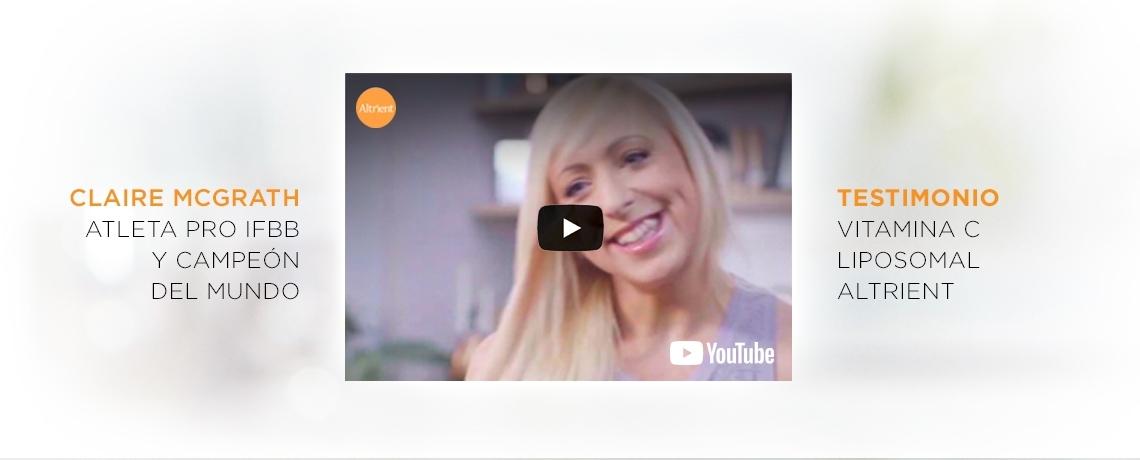 Claire McGrath Tetimonio Vitamina C Liposomal Altrient
